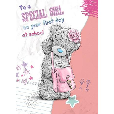 Girls 1st Day at School Me to You Bear Card  £1.79