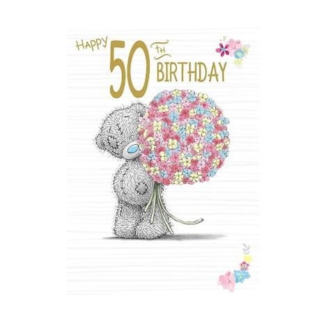 Happy 50th Birthday Me to You Bear Birthday Card  £1.79