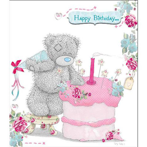 Tatty Teddy Standing on Stool Birthday Me to You Bear Card  £1.80