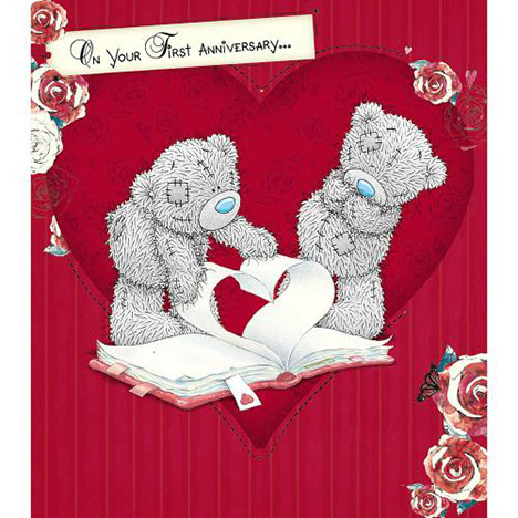 1st Anniversary Me to You Bear Card  £1.89