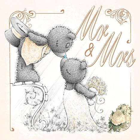 3D Holographic Mr & Mrs Me to You Bear Wedding Card  £2.99