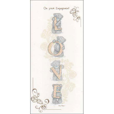 On Your Engagement Me to You Bear Card  £1.80