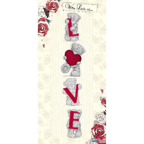 Lots of Love Anniversary Me to You Bear Card  £1.89