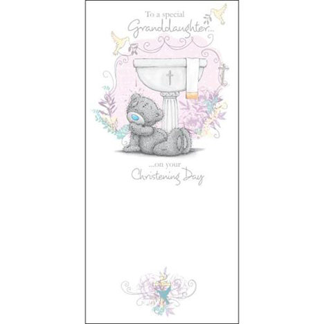 Granddaughter Christening Day Me to You Bear Card  £1.89