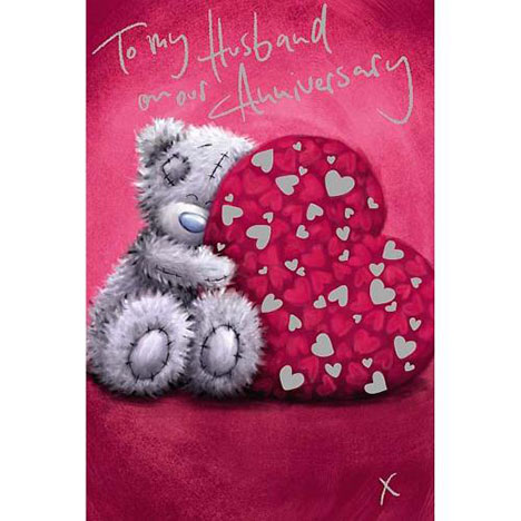 Husband Anniversary Me to You Bear Card  £2.49