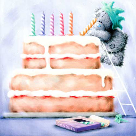 Bear with Big Birthday Cake Me to You Bear Card   £1.85