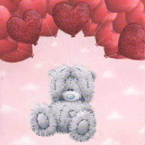 Love Floating Balloons Me to You Bear Card  £1.80