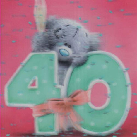 3D Holographic 40th Birthday Me to You bear Card  £2.85