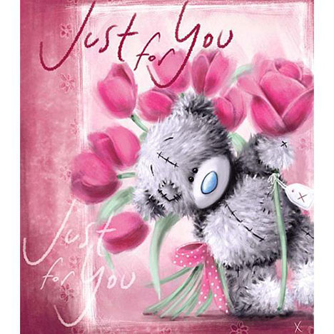 Tatty Teddy with Pink Roses Me to You Bear Card  £1.80