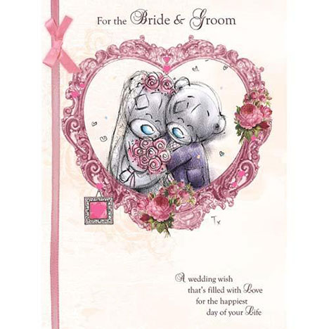Bride and Groom Wedding Large Me to You Bear Card  £3.45