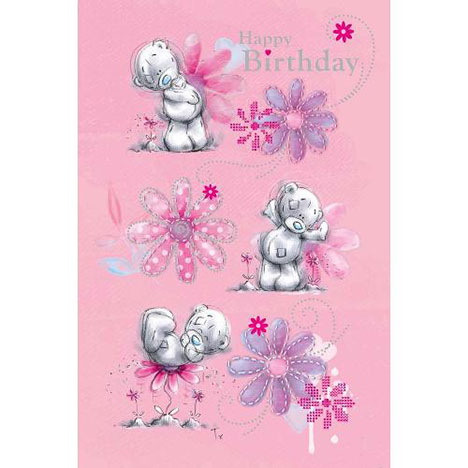 Happy Birthday Pink Me to You Bear Card  £2.40