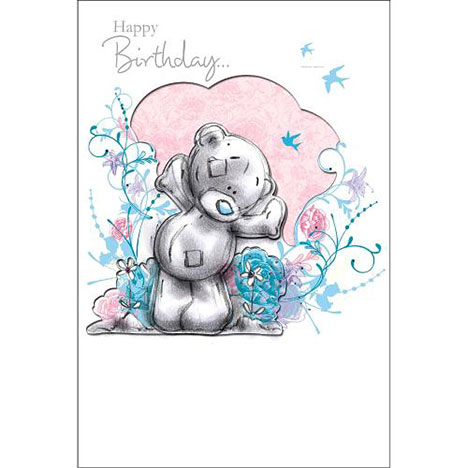 Tatty Teddy with Flowers Me to You Bear Birthday Card  £4.25