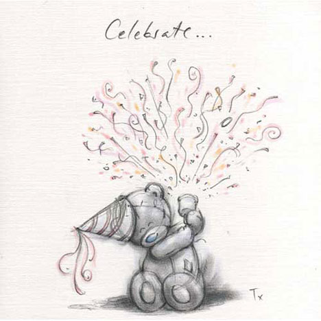 Celebrate Me to You Bear Sketchbook Card   £2.35