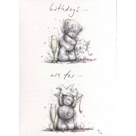 Birthday Me to You Bear Sketchbook Card   £2.35