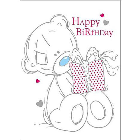 Tatty Teddy Holding Present Me to You Birthday Card  £1.60