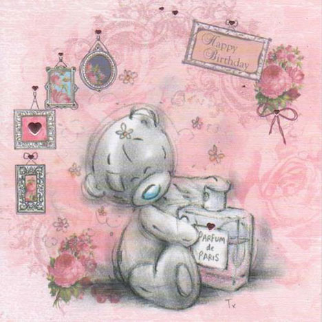Bear With Perfume Birthday Me to You Bear Card  £1.95