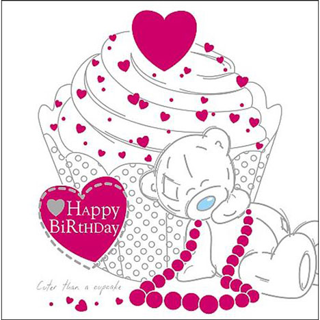 Tatty Teddy Sitting by Cake Me to You Bear Birthday Card  £1.95