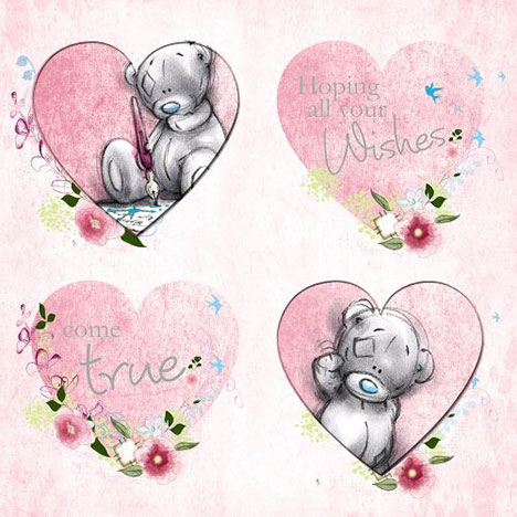 Birthday Wishes Four Hearts Me to You Bear Card  £2.49