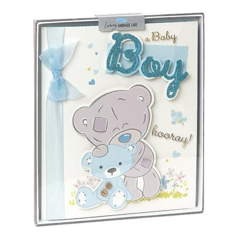 New Baby Boy Me to You Bear Handmade Boxed Card  £6.99
