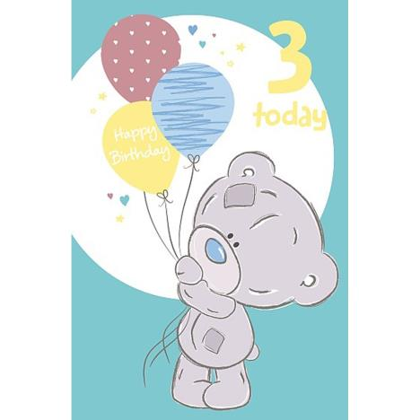 3 Today Tiny Tatty Teddy 3rd Birthday Me to You Bear Card  £1.79