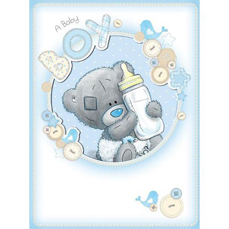 New Baby Boy Me to You Bear Large Card   £3.59