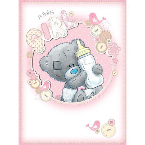 New Baby Girl Me to You Bear Large Card (A92LD004) : Me to