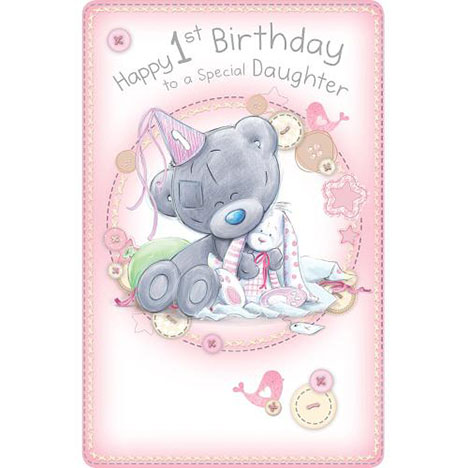 1st Birthday Daughter Me to You Bear Card   £2.49