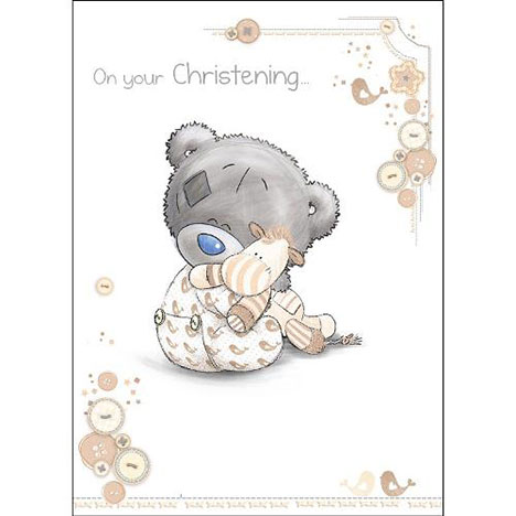 Tiny Tatty Teddy Me to You Bear Christening Card  £1.79