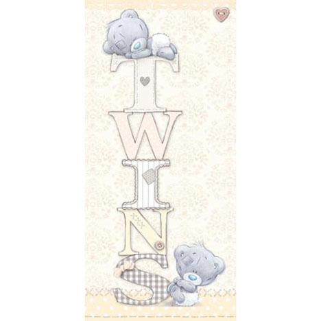 Twins Me to You Bear Baby Card  £1.89