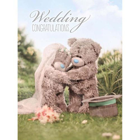 Wedding Congratulations Large Me to You Bear Card  £3.59