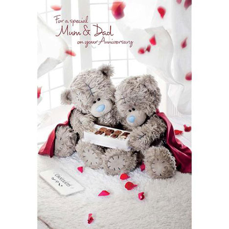 Mum and Dad Anniversary Me to You Bear Card   £2.49