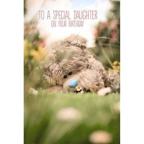 Daughter Birthday Photo Finish Me to You Bear Card   £2.49