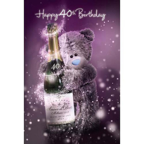 3D Holographic 40th Birthday Me to You Bear Card  £3.59