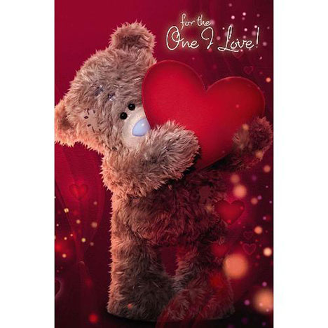 3D Holographic One I Love Me to You Bear Birthday Card  £3.59
