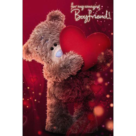 3D Holographic Boyfriend Me to You Bear Birthday Card  £3.59