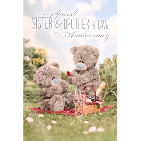3D Holographic Sister & Brother-in-Law Anniversary Me to You Card  £3.59