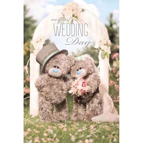 3D Holographic Me to You Bear Wedding Card  £3.59
