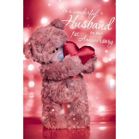3D Holographic Husband on 1st Anniversary Me to You Card  £3.59