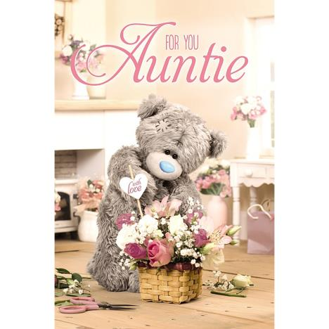 3D Holographic Auntie Flowers With Love Me to You Bear Birthday Card  £4.25