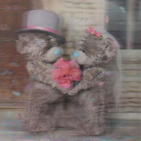 3D Holographic Wedding Day Me to You bear Card  £2.85