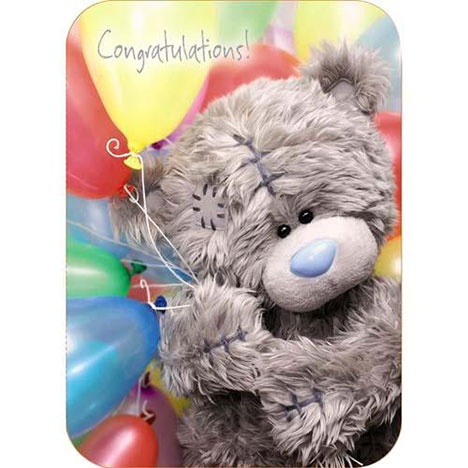Congratulations Me to You Bear Card   £1.60