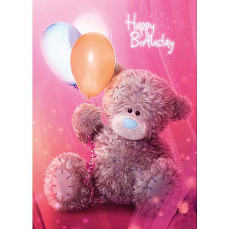 Tatty Teddy with Balloons Birthday Me to You Bear Card  £1.60