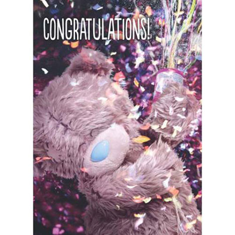 3D Holographic Congratulations Me to You Bear Card   £2.69
