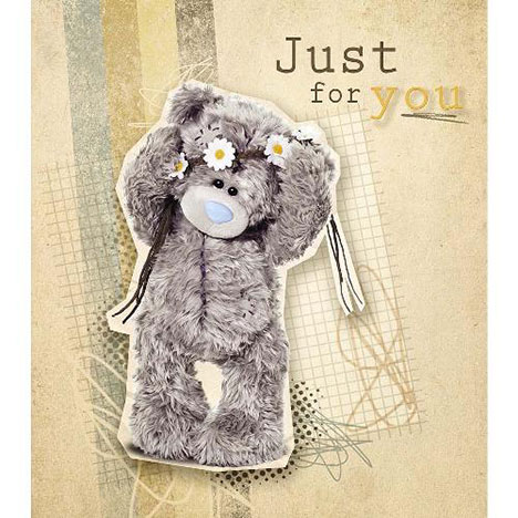 Just For You Tatty Teddy with Daisies Me to You Bear Card  £1.89