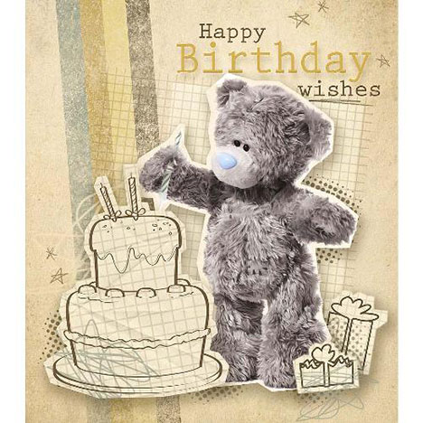 Happy Birthday Wishes Me to You Bear Card  £1.89