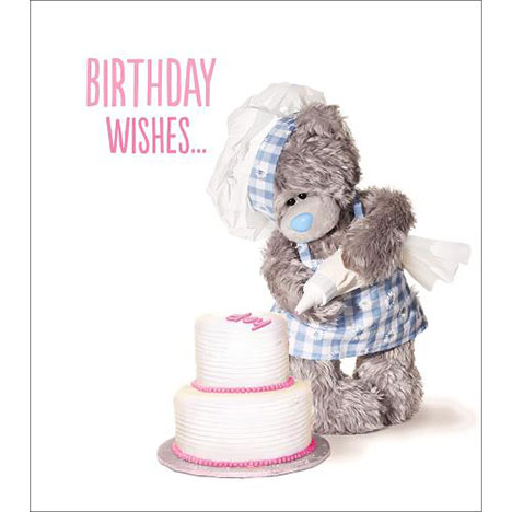 Birthday Wishes Me to You Bear Card  £1.89
