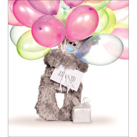 Birthday Balloons Me to You Bear Card  £1.89