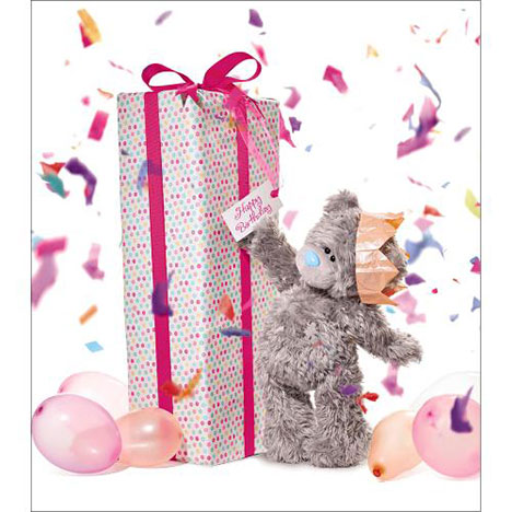 Giant Birthday Present Me to You Bear Card  £1.89