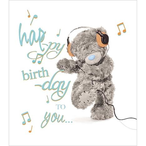Happy Birthday To You Music Notes Me to You Bear Card  £1.89