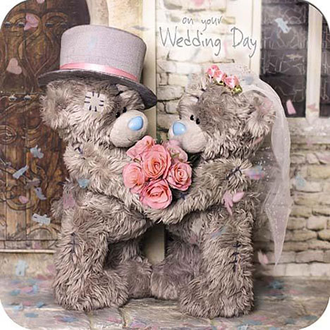 On Your Wedding Day Me to You Bear Card  £1.95